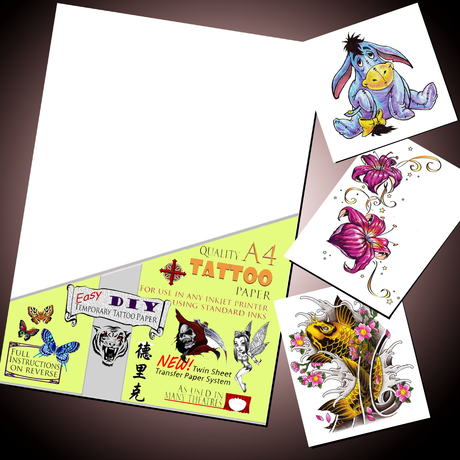 inkjet temporary tattoo paper We stock diy temporary tattoo paper for both inkjet and laser printers both items are available for purchase in our online tattoo store all orders posted within 24.