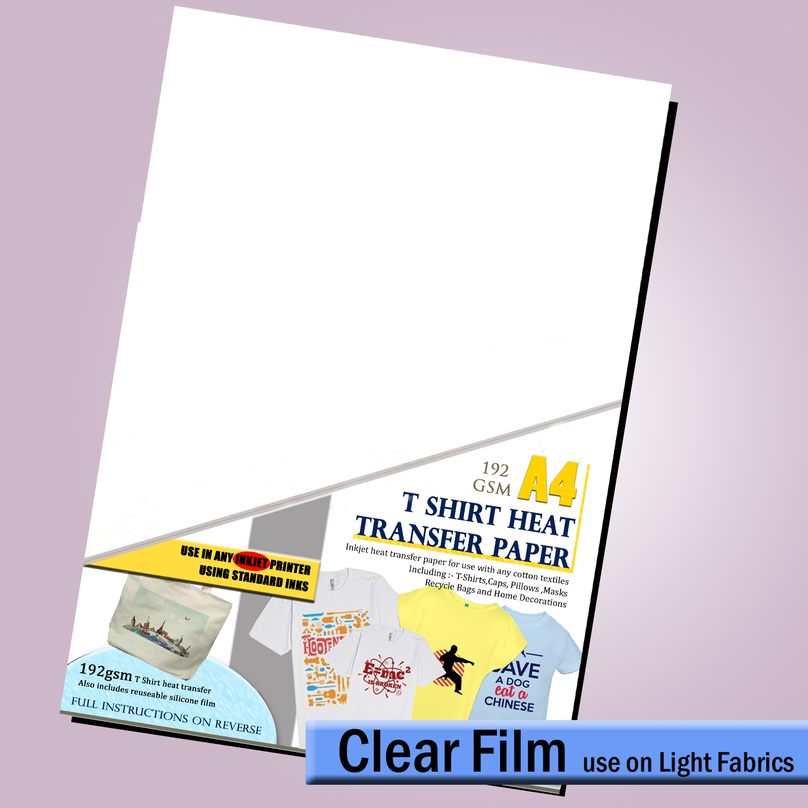 Details about Transfer Paper - T Shirt Decal (For LIGHT Fabric ) for use on  INKJET printers